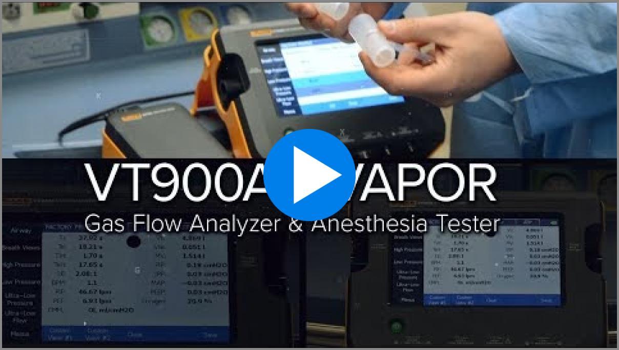 VT900A + VAPOR Gas Flow Analyzer and Anesthesia Tester