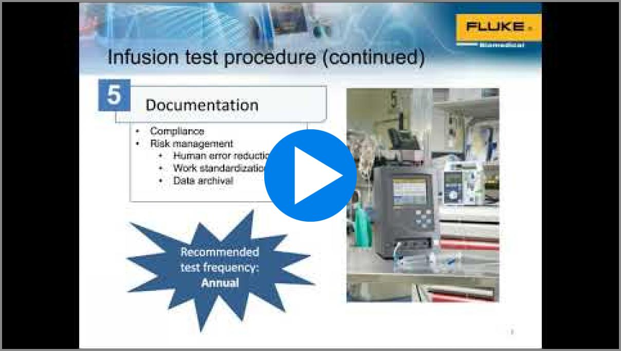 This recorded video covers how to select the best infusion test method, common errors.