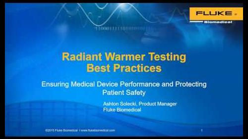 Learn about global testing standards, radiant warmer testing best practices, and skin temperature probe testing.