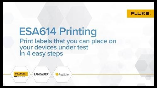 Now you can print labels that you can place on your devices under test in 4 easy steps.