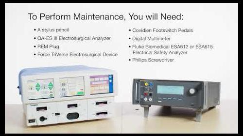 QA-ES III - ForceTriad Preventative Maintenance Step 1