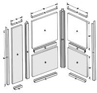 Components of Shielding Panel