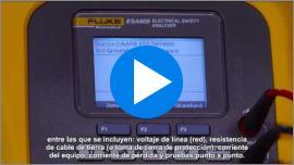 Presentación de la ESA609 Seguridad eléctrica Analizador