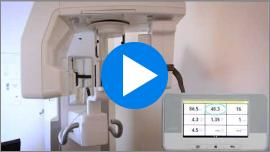 Video guide on how to position a DENT or R/F sensor on a panoramic dental X-ray machine. Subtitles in English.